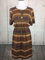 Pendleton Size S Small Nesika Dress Portland Collection Geometric Tribal Brown