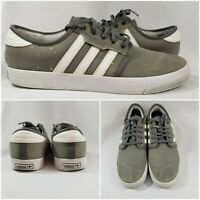 Adidas SEELEY GREY Running White Low Grey Skateboard Men's Shoes Size 10