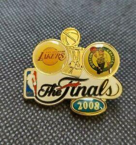 NBA Los Angeles Lakers Boston Celtics THE FINALS 2008 Pin Basketball AMINCO OOP