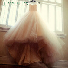 Puffy Sweetheart Wedding Gowns Ball Gown Champagne Bridal Dresses Strapless