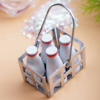 1/12 Scale Dollhouse Mini Milk Basket with Bottles Furniture Home Kid Play Gift