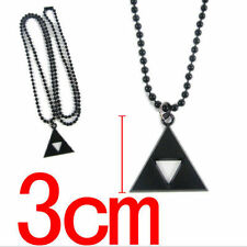 The Legend of Zelda Triforce Costume Cosplay Alloy Metal Necklace Pendant black