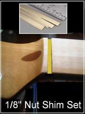 """USA MADE MusicianAtHeart BRASS NUT SHIM SET (6) 1/8"""" Nut made for FENDER Guitar"""