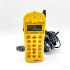 Alcatel One Touch Easy Handy, Mobiltelefon, Telefon mit Ladegerät - Gelb Retro