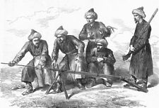 CHINA. Kashgar. Cease firing! Sponge out, antique print, 1874