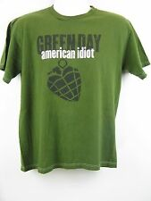 Green Day Hand American Idiot Band Graphic T-Shirt Green M/L