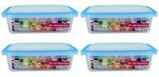 Frischhaltedosen Vorratsdosen transparent Deckel Clickverschluss 1500 ml 4 Stück