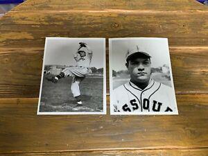 Bill Ralph Spencer press photos (2) The Sporting News Missouri vintage baseball