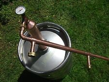 "2""COLUMN ETHANOL MOONSHINE WHISKEY,COPPER STILL OLYMPIC KILLER!! MOONSHINE"