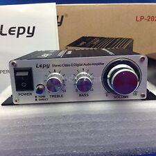 New! Lepy Lp-2020A Class-D Hi-Fi Audio Mini Amplifier with Us Power Supply Black