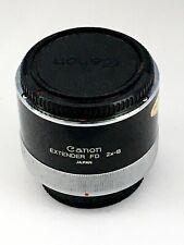 Canon extender FD 2xB Lente condición excelente/menta doble longitud focal poco usado
