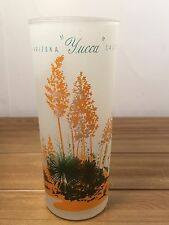 VINTAGE BLAKELY OIL TALL ROUGH FROSTED GLASS ARIZONA CACTUS YUCCA