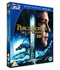 Percy Jackson: Sea of Monsters 3D (3D + 2D Blu-ray, 2 Discs) *NEW/SEALED*