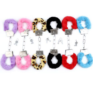 Fluffy Hand Cuffs Fetish Sex Toy various colours
