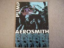 AEROSMITH PUMP TOUR PROGRAMME 1989