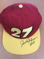 USA vtg Autograghed Junior Johnson Big #27 Stricklin NASCAR Racing PIT HAT CAP