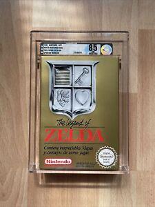 The Legend Of Zelda VGA 85 Q-NM+ NES 3 Screw White Nintendo Seal ES PAL COA WATA