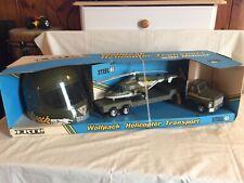 Ertl Toys 1987 Wolfpack Helicopter & Transport Truck w/Helmet In Box
