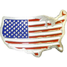 USA United States American Map Flag Metal Belt Buckle Unisex for Men and Women