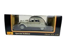 Maisto 1:18 Special Edition Diecast Die Cast Car Citroen 2CV Gray