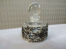 Small Floral Empty Glass Perfume Scent Bottle