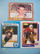 "(3) O-Pee-Chee... Bobby Orr, Patrick Roy & Wayne Gretzky ""Novelty"" Rookie Cards!"