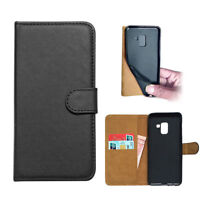 SDTEK Samsung Galaxy A8 2018 Faux Leather Wallet Flip Cover Case