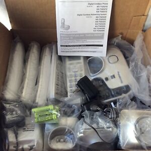 Panasonic KX-TGD220/5 wireless hand sets with bases/answering machine