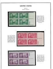 MNH PLATE BLOCKS FROM 1945-47