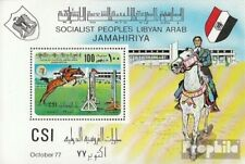 Libya block34 unmounted mint / never hinged 1977 International Reitturnier