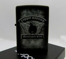 Zippo Windproof Lighter 'Zippo Riders Motorcycle Club' Black Matte 2016 NEW