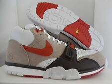 NIKE AIR TRAINER 1 MID SP/FRAGMENT CHINO-RUST-BROWN-WHITE SZ 8 [806942-282]