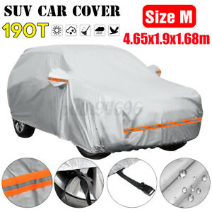 Full SUV Car Cover Indoor Outdoor Rain Sun UV Snow Dust Resistant Protection M
