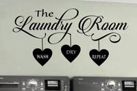 The Laundry Room Heart Vinyl Wall Decal Sticker Decor Cute Wash Dry Repeat