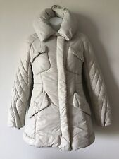 CELINE Light Gray Wadding And Pure White Duck Feather Jacket Size 36 US XS