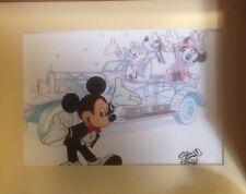 Disney The Art Of Disney Sericel Mickey Minnie Donald Goofy