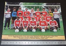 CLIPPING POSTER FOOTBALL 1985-1986 D2 STADE REIMS CHAMPAGNE AUGUSTE-DELAUNE
