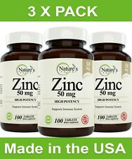 [3 X PACK] Zinc Supplement, High Potency Immune System Support (300 Day Supply)