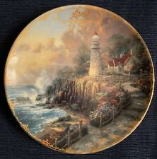 Thomas Kinkade Simpler Times Calendar Plate April The Light of Peace Fifth Issue