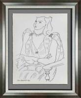 "Henri MATISSE Original SIGNED LITHOGRAPH ""Annelies"" Limited Ed. w/Custom FRAMING"