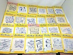 Huge Lot Vtg Aunt Martha's Hot Iron Transfers Vogart Repeat Transfer Patterns