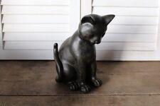 Dekofigur Katze sitzend Skulptur Tierfigur Katzenfigur Nostalgie