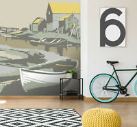 3D Southwold Harbour R156 Wallpaper Mural Sefl-adhesive Removable Steve Read Amy