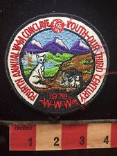 Vtg (!!!BAD STITCHING!!!) 1976 4th Annual Conclave W4A Boy Scout WWW Patch 74YJ