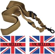 Single point Tan Heavy Duty Tactical Rifle Sling Airsoft Paintball shooting