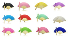 Foldable Hand Held Bamboo and Wooden Fan - Summer, Wedding, Chinese ks gifts