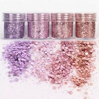 4Pots Sequins Glitter Dust Powder Paillette Tips Nail Art Decor P8Y4