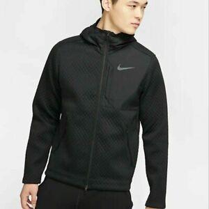 Men's Nike Therma Full-Zip Hooded Training Jacket Black BV3998-011 Size XXL Rare
