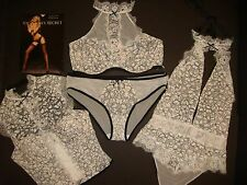 Victoria's Secret 34C,36C senza Righe Reggiseno Set +Corsetto +Orsetto Avorio