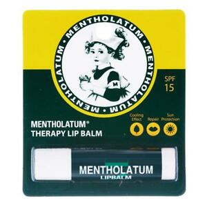 Mentholatum Therapy Lip Balm Care Cooling Sensation SPF15 Protect Sun Burn 3.5g